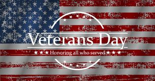 Illustration for veterans day, vector graphic