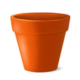 Illustration vide de vecteur de pot de fleurs Images stock