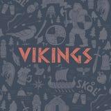 illustration Viking-tirée par la main de concept Images stock