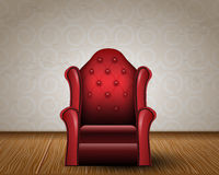 Illustration of vintage armchair in room Royalty Free Stock Photo