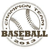Baseball label. Illustration of vintage baseball label Royalty Free Stock Image