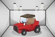 A vintage car at the garage Royalty Free Stock Photo