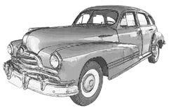 Vintage car illustration Stock Photography