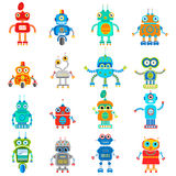 Illustration of vintage cute robots Stock Photos