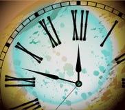 Illustration of Vintage Distressed Clock Royalty Free Stock Photos
