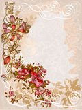 Illustration of vintage floral elements Royalty Free Stock Photo