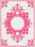 Illustration of a vintage frame in pink color Royalty Free Stock Photo