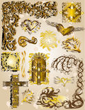 Illustration of vintage golden elements Royalty Free Stock Photo