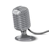 Illustration of Vintage Microphone Stock Photos