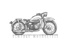 Illustration of Vintage motorcycle Royalty Free Stock Images