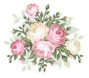 Illustration of vintage roses. stock illustration