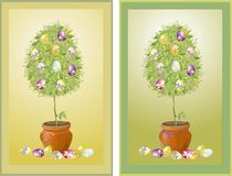 Illustration of vintage tree end eggs. Stock Images