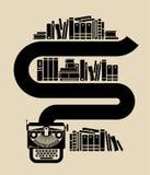 Illustration of vintage typewriter. Royalty Free Stock Image