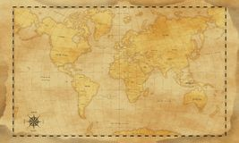Vintage style world map background royalty free stock photography