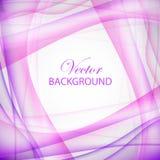 Illustration violette d'onde Photo libre de droits