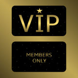 Illustration of VIP card Royalty Free Stock Photography