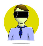 Illustration of virtual reality person Stock Photography