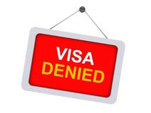 Visa denied sign Stock Photos