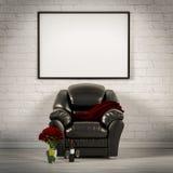 Illustration vivante de salle blanche 3d Images stock