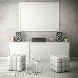 Illustration vivante de salle blanche 3d Photo stock