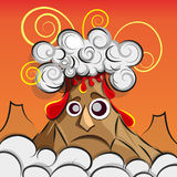Illustration of a volcano erupting Stock Images