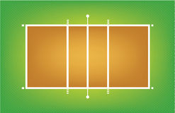 Illustration of volleyball court or field Royalty Free Stock Image