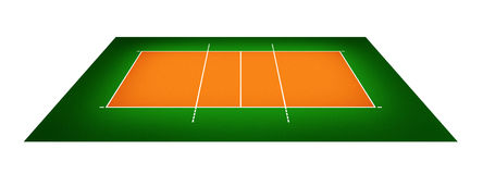 Illustration of volleyball court Royalty Free Stock Photos