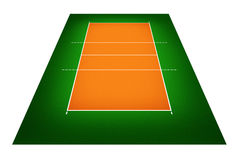 Illustration of volleyball court Stock Photo