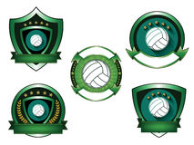 Illustration of Volleyball logo set Stock Photography