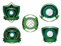 Illustration of Volleyball logo set Stock Photography