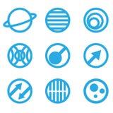 Illustration von abstrakten blauen Zeichen lizenzfreie abbildung