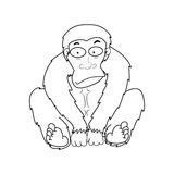 Illustration von Affen Stockbild