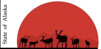Illustration von Alaska Stockfoto