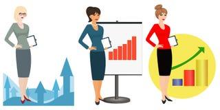 Illustration von Büroangestellten auf einem weißen Hintergrund Lizenzfreie Stockbilder