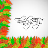 Illustration von Blättern für Danksagung Lizenzfreies Stockbild