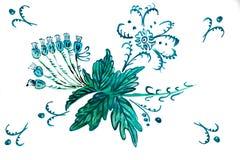 Illustration von blauen Glockenblumen Stockfotografie