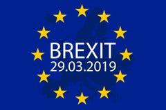 Illustration von Brexit Großbritannien verlässt die EU lizenzfreie abbildung