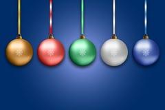 Illustration von bunten Bällen des neuen Jahres Stockfoto