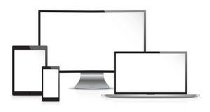 Illustration von Datenverarbeitungsgeräten Lizenzfreies Stockbild