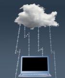 Illustration von Datenverarbeitungssicherheitsherausforderungen der Wolke Lizenzfreies Stockbild