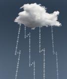 Illustration von Datenverarbeitungssicherheitsherausforderungen der Wolke Stockfotografie