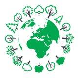 Illustration von Eco-Welt Stockbilder