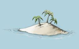 Illustration von einer Insel Stockfotografie