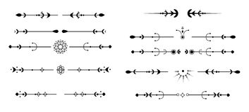 Illustration von eleganten Funktionen, Schwarzes, mit Blumen Lizenzfreie Stockfotos