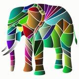Illustration von elephantmade von der Farbe Stockbilder