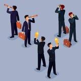 Illustration von flachen isometrischen Leuten 3D Das Konzept eines führenden Vertreters der Wirtschaft, Lead Manager, CEO Lizenzfreie Stockbilder