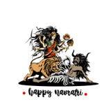 Illustration von Göttin maa kali für Navaratri stock abbildung