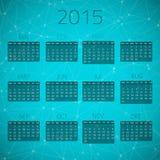 Illustration von Glanz-Verbindungs-Kalender 2015 Lizenzfreies Stockfoto
