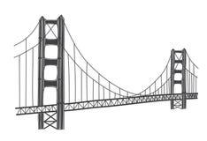 Illustration von Golden gate bridge, San Francisco Stockbilder
