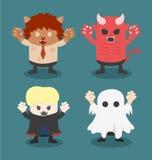 Illustration von Halloween, Front stellte 1 ein Lizenzfreies Stockbild